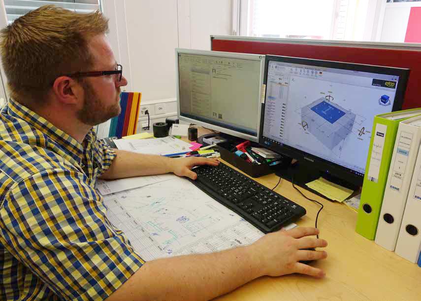 Markus Weiersmüller am Programm EFCO DesignFiX
